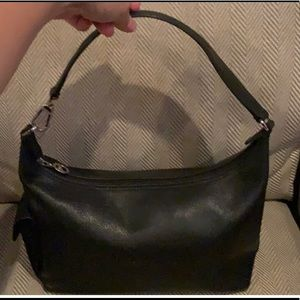 Pebbled leather longchamp shoulder bag